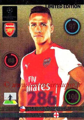 2014-15 - Adrenalyn XL champions League N° LE-AL - Alexis SANCHEZ (Arsenal FC) (Limited Edition)