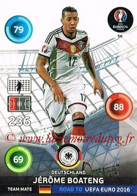 Panini Road to Euro 2016 Cards - N° 056 - Jerome BOATENG (Allemagne)