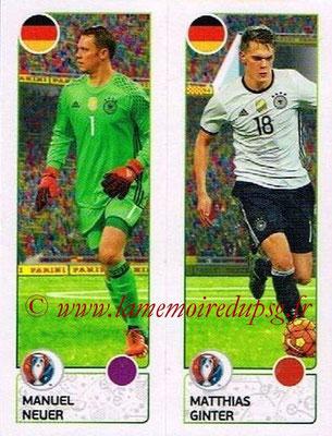 Panini Euro 2016 Stickers - N° 262 - Manuel NEUER + Matthias GINTER (Allemagne)