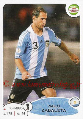 2014 - Panini Road to FIFA World Cup Brazil Stickers - N° 060 - Pablo ZABALETA (Argentine)