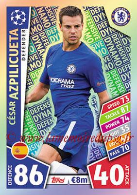 2017-18 - Topps UEFA Champions League Match Attax - N° 113 - César AZPILICUETA (Chelsea FC) (Defensive Dynamo)