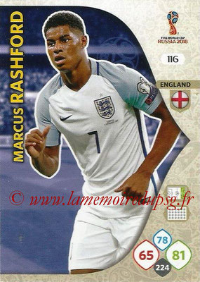 2018 - Panini FIFA World Cup Russia Adrenalyn XL - N° 116 - Marcus RASHFORD (Angleterre)