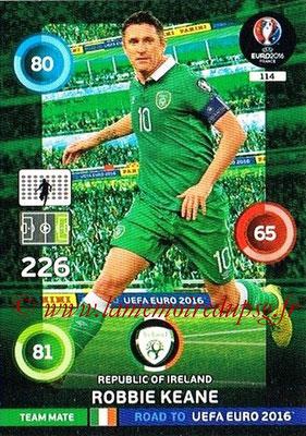 Panini Road to Euro 2016 Cards - N° 114 - Robbie KEANE (Eire)