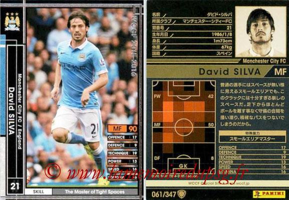 2015-16 - Panini WCCF - N° 061 - David SILVA (Manchester City FC)