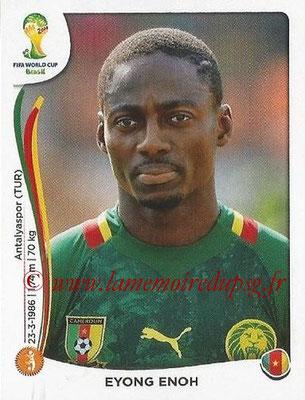 2014 - Panini FIFA World Cup Brazil Stickers - N° 100 - Eyong ENOH (Cameroun)