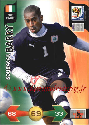 2010 - Panini FIFA World Cup South Africa Adrenalyn XL - N° 064 - Boubacar BARRY (Côte d'Ivoire)
