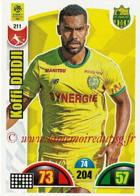 2018-19 - Panini Adrenalyn XL Ligue 1 - N° 211 - Koffi DJIDJI (Nantes)