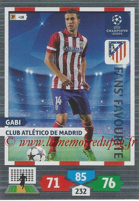 2013-14 - Adrenalyn XL champions League N° 292 - GABI (Club Atletico de Madrid) (Fans' Favourite)