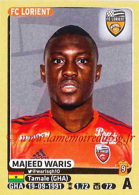 2015-16 - Panini Ligue 1 Stickers - N° 191 - Majeed WARIS (FC Lorient)