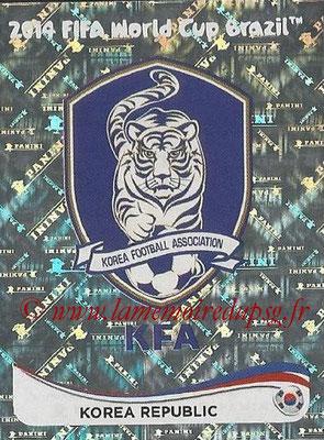 2014 - Panini FIFA World Cup Brazil Stickers - N° 621 - Ecusson Corée du Sud