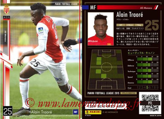 Panini Football League 2015 - PFL13 - N° 063 - Alain TRAORE (AS Monaco)