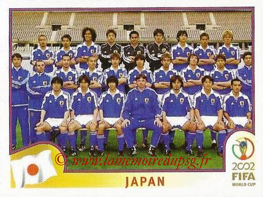 2002 - Panini FIFA World Cup Stickers - N° 531 - Equipe Japon