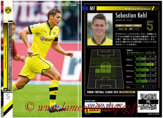 Panini Football League 2013 - PFL01 - N° 138 - Sebastian Kelhl ( BV Borussia 09 Dortmund )