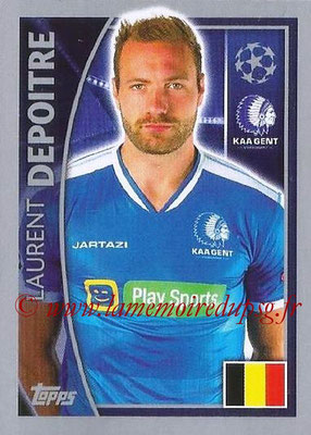 2015-16 - Topps UEFA Champions League Stickers - N° 546 - Laurent DELPOITRE (KAA Gent)