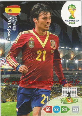 2014 - Panini FIFA World Cup Brazil Adrenalyn XL - N° 152 - David SILVA (Espagne)