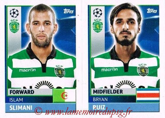 2016-17 - Topps UEFA Champions League Stickers - N° SPO 18-19 - Bryan RUIZ + Islam SLIMANI (Sporting CP)
