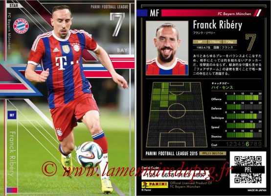Panini Football League 2015 - PFL11 - N° 061 - Franck RIBERY (Bayern Munich) (Star)