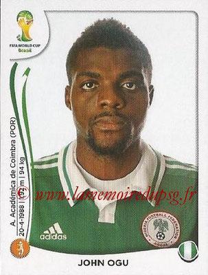 2014 - Panini FIFA World Cup Brazil Stickers - N° 478 - John OGU (Nigéria)