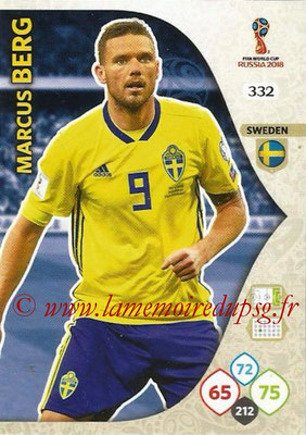 2018 - Panini FIFA World Cup Russia Adrenalyn XL - N° 332 - Marcus BERG (Suède)