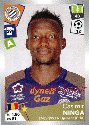 2017-18 - Panini Ligue 1 Stickers - N° 305 - Casimir NINGA (Montpellier)