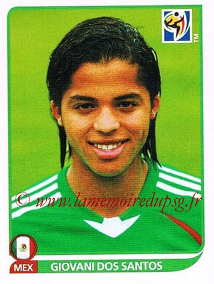 2010 - Panini FIFA World Cup South Africa Stickers - N° 061 - Giovani DOS SANTOS (Méxique)
