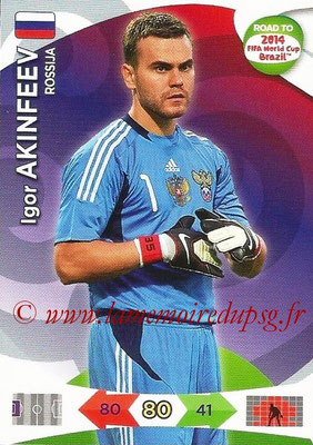 2014 - Panini Road to FIFA World Cup Brazil Adrenalyn XL - N° 157 - Igor AKINFEEV (Russie)