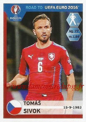 Panini Road to Euro 2016 Stickers - N° 036 - Tomas SIVOK (République Tchèque)