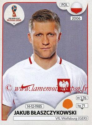 2018 - Panini FIFA World Cup Russia Stickers - N° 603 - Jakub BLASZCZYKOWSKI (Pologne)