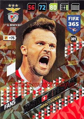 2017-18 - Panini FIFA 365 Cards - N° 301 - Haris SEFEROVIC (SL Benfica) (Impact Signing)