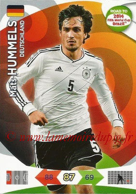 2014 - Panini Road to FIFA World Cup Brazil Adrenalyn XL - N° 048 - Mats HUMMELS (Allemagne)