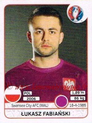 Panini Euro 2016 Stickers - N° 293 - Lukasz FABIANSKI (Pologne)