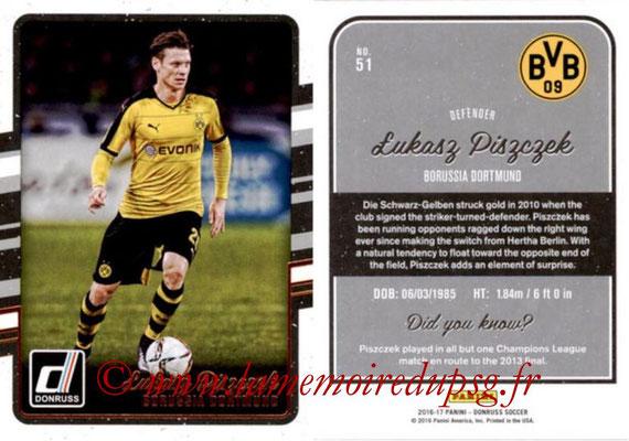 2016 - Panini Donruss Cards - N° 051 - Lukasz PISZCZEK (Borussia Dortmund)