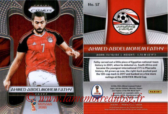 2018 - Panini Prizm FIFA World Cup Russia - N° 057 - Ahmed ABDELMONEM FATHY (Egypte)