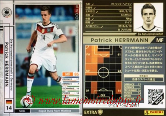 2015-16 - Panini WCCF - N° EXT23 - Patrick HERRMANN (Allemagne) (Extra)