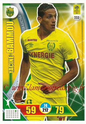 2017-18 - Panini Adrenalyn XL Ligue 1 - N° 233 - Yacine BAMMOU (Nantes)