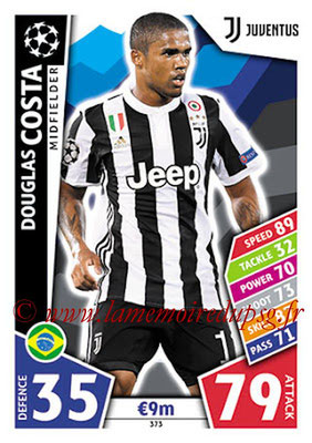 2017-18 - Topps UEFA Champions League Match Attax - N° 373 - Douglas COSTA (Juventus)
