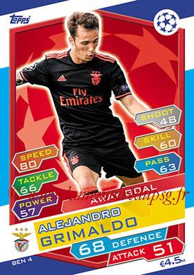 2016-17 - Topps UEFA Champions League Match Attax - N° BEN4 - Alejandro GRIMALDO (SL Benfica) (Away goal)