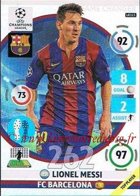 2014-15 - Adrenalyn XL champions League Update edition N° UE113 - Lionel MESSI (FC Barcelone) (Game Changers)