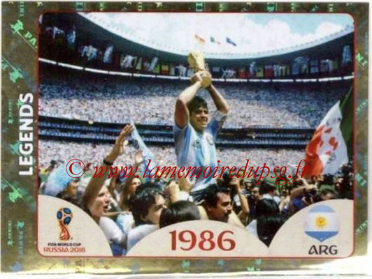 2018 - Panini FIFA World Cup Russia Stickers - N° 676 - Argentine 1986 (FIFA World Cup Legends)