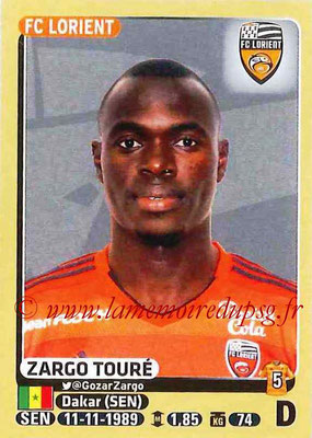 2015-16 - Panini Ligue 1 Stickers - N° 180 - Zargo TOURE (FC Lorient)