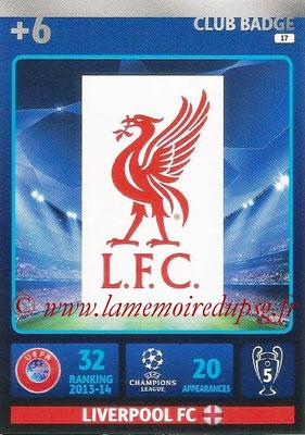 2014-15 - Adrenalyn XL champions League N° 017 - Logo Liverpool FC (Club Badge)