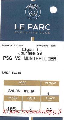 Tickets  PSG-Montpellier  2015-16