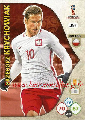 2018 - Panini FIFA World Cup Russia Adrenalyn XL - N° 267 - Grzegorz KRYCHOWIAK (Pologne)