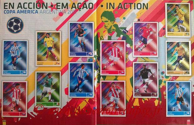 Panini Copa América Argentina 2011 - Pages 44 et 45 - En action