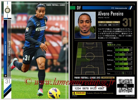 Panini Football League 2013 - PFL04 - N° 020 - Alvaro PEREIRA (Inter Milan)
