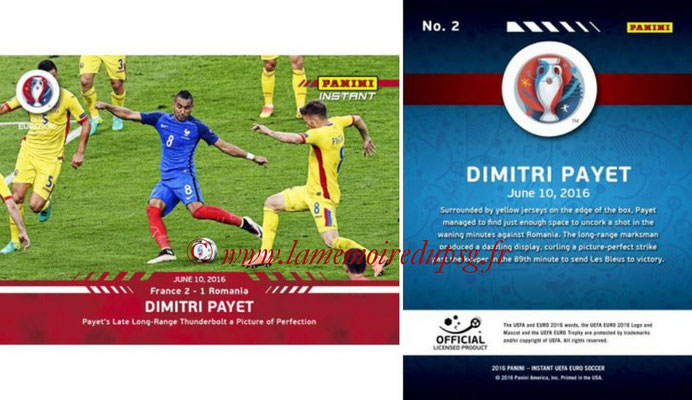 Panini Instant Euro 2016 - N° 002 - Dimitri PAYET