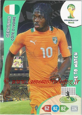2014 - Panini FIFA World Cup Brazil Adrenalyn XL - N° 100 - GERVINHO (Côte d'Ivoire) (One to watch)