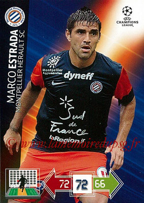 2012-13 - Adrenalyn XL champions League N° 167 - Marco ESTRADA (Montpellier HSC)