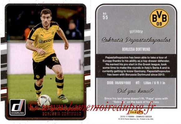 2016 - Panini Donruss Cards - N° 055 - Sokratis PAPASTATHOPOULOS (Borussia Dortmund)