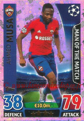 2015-16 - Topps UEFA Champions League Match Attax - N° 488 - Ahmed MUSA (CSKA Moscou) (Man of the Match)